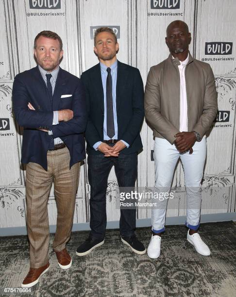 Director Guy Ritchie actors Charlie Hunnam and Djimon Hounsou attend Build Presents The Cast Of 'King Arthur Legend Of The Sword' at Build Studio on...