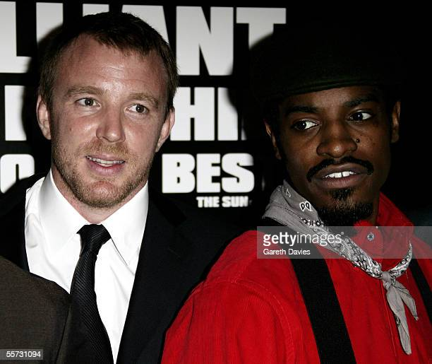 """Director Guy Ritchie and actor Andre """"Andre 3000"""" Benjamin arrive at the UK premiere of """"Revolver"""" at the Odeon Leicester Square on September 20,..."""