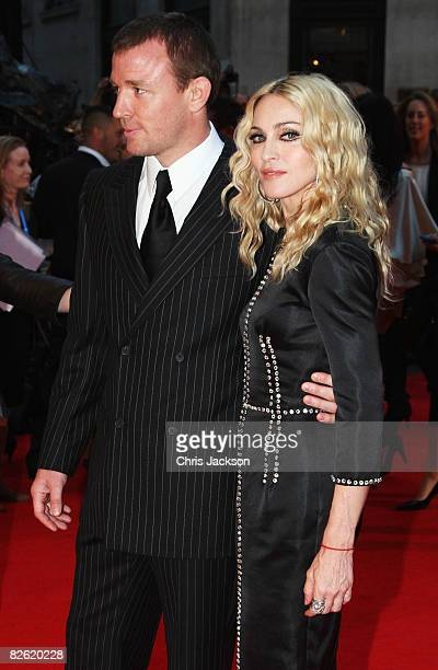 Director Guy Ritchie and his wife Madonna arrive at the World Premiere of 'RocknRolla' at the Odeon West End cinema Leicester Square on September 1...