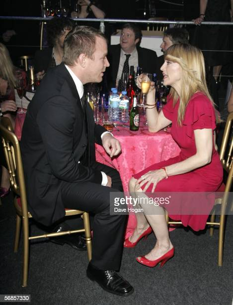 Director Guy Ritchie and his wife Madonna attend The Brit Awards 2006 with MasterCard at Earls Court 1 on February 15 2006 in London England The 26th...