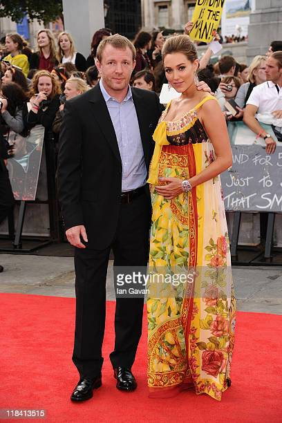 Director Guy Ritchie and Jacqui Ainsley attend the World Premiere of Harry Potter and The Deathly Hallows Part 2 at Trafalgar Square on July 7 2011...