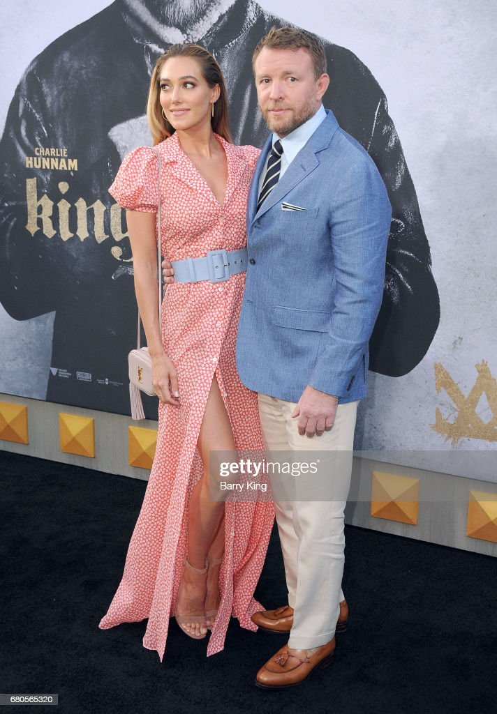 Director Guy Ritchie (R) and Jacqui Ainsley (L) attend world premiere of Warner Bros. Pictures' 'King Arthur: Legend Of The Sword' at TCL Chinese Theatre on May 8, 2017 in Hollywood, California.