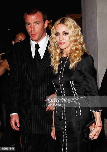 Director Guy Ritchie and Madonna attend the After Party for the World Premiere of 'RocknRolla' at Automat on September 1 2008 in London England