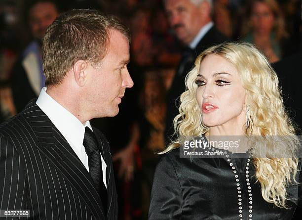 Director Guy Ritchie and Madonna attend the World Premiere of RocknRolla held at the Odeon West End Leicester Square on September 1 2008 in London...
