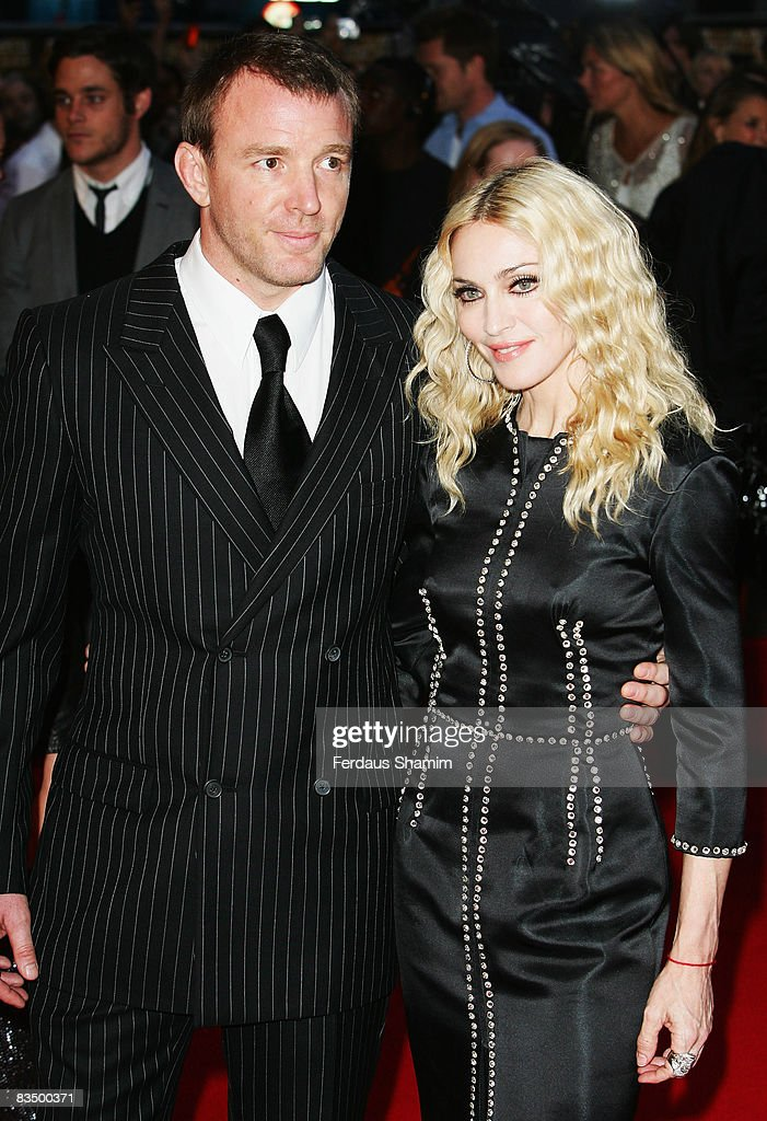 Director Guy Ritchie and Madonna attend the World Premiere of 'RocknRolla' held at the Odeon West End, Leicester Square on September 1, 2008 in London, England.