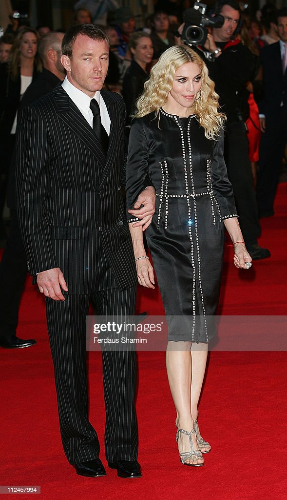 Director Guy Ritchie and wife Madonna attend the world premiere of RocknRolla at Odeon West End on September 1, 2008 in London, England.