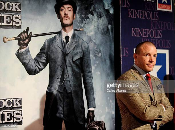 Director Guy Ritchie attends 'Sherlock Holmes' premiere at Kinepolis cinema on January 13 2010 in Madrid Spain