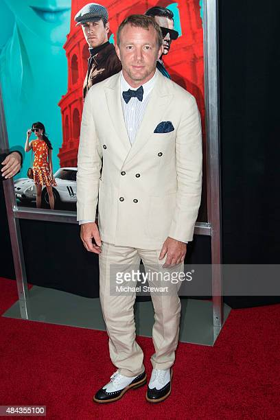Director Guy Ritchie attends 'The Man From UNCLE' New York premiere at Ziegfeld Theater on August 10 2015 in New York City