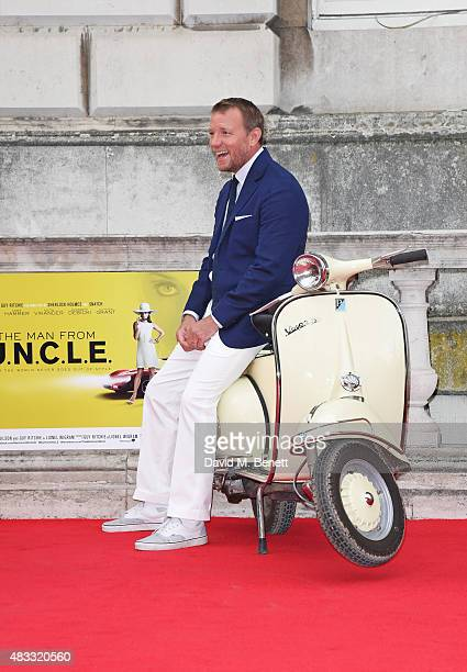 Director Guy Ritchie attends the people's premiere of 'The Man From UNCLE' during Film4 Summer Screenings at Somerset House on August 7 2015 in...