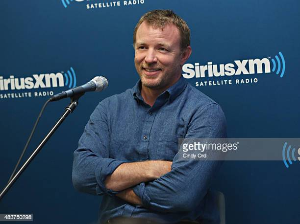Director Guy Ritchie takes part in SiriusXM's Entertainment Weekly Radio 'The Man from UNCLE' Town Hall with Guy Ritchie Henry Cavill and Armie...