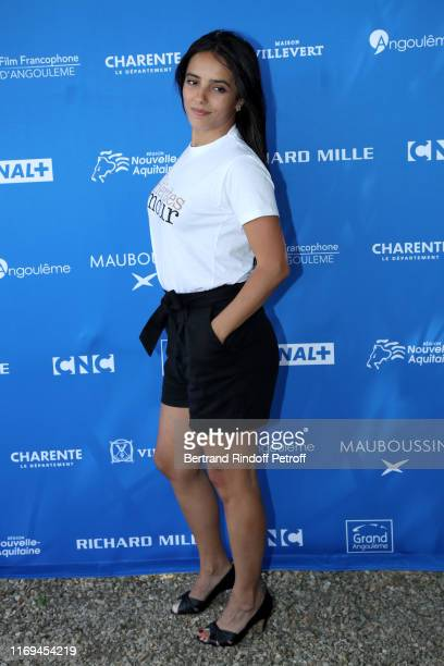 Director Hafsia Herzi attends the Photocall of the movie Tu merites un amour during the 12th Angouleme FrenchSpeaking Film Festival Day two on August...
