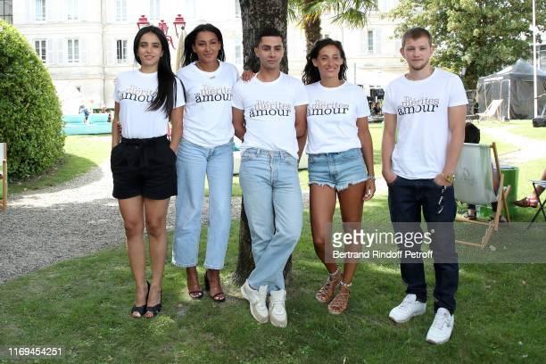 Director Hafsia Herzi Myriam Djeljeli Djanis Bouzyani and Anthony Bajon attend the Photocall of the movie Tu merites un amour during the 12th...