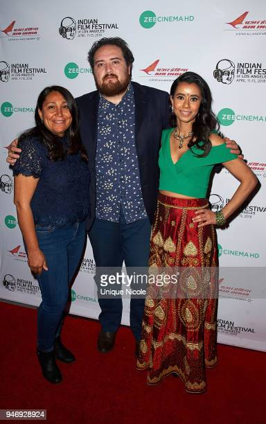 Director Haifaa AlMansour Film critic Carlos Aguilar and Actress Sujata Day attend Closing Night Red Carpet 16th Annual Indian Film Festival Of Los...