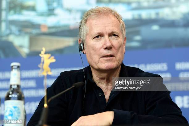 Director Hans Petter Moland attends the Out Stealing Horses press conference during the 69th Berlinale International Film Festival Berlin at Grand...