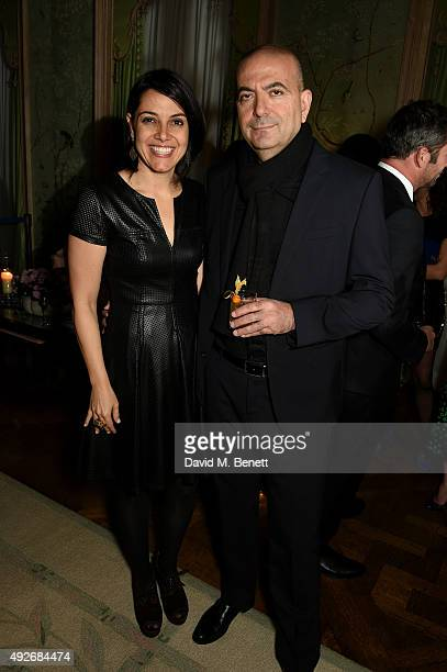 Director Hany AbuAssad and producer Amira Diab attend The Academy Of Motion Pictures Arts Sciences new members reception hosted by Ambassador Matthew...