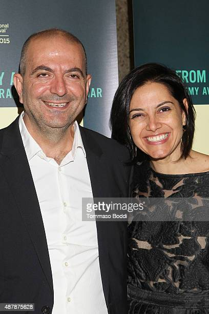 Director Hany AbuAssad and Producer Amira Diab attend the World Premiere of Hany AbuAssad's 'The Idol' at Toronto International Film Festival at...