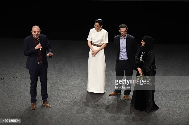 Director Hany AbuAssad introduces the regional premiere of The Idol with producer Amira Diab and producer Ali Jaafar along with Doha Film Institute...