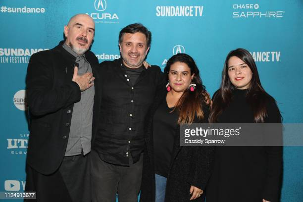 Director Hari Sama and Producers Antonio Urdapilleta Veronica Valadez P and Ale Garcia attend the 'This Is Not Berlin' Premiere during the 2019...