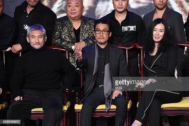 Director Hark Tsui actor Tony Leung Ka Fai and actress Yu Nan attend director Hark Tsui's The Taking of Tiger Mountain 3D on November 13 2014 in...
