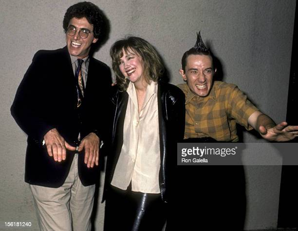 Director Harold Ramis and actor Martin Shot attend Comic Relief Benefit on March 29 1986 at the Universal Ampitheater in Universal City California