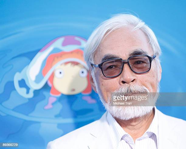 Director Hayao Miyazaki arrives to the special screening of 'Ponyo' held at the El Capitan Theatre on July 27 2009 in Hollywood California