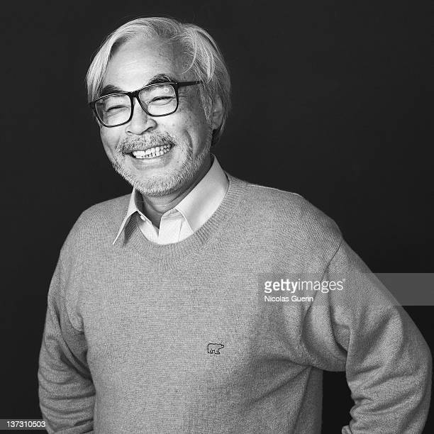 Director Hayao Miyazaki is photographed for Self Assignment on November 15 2006 in Paris France