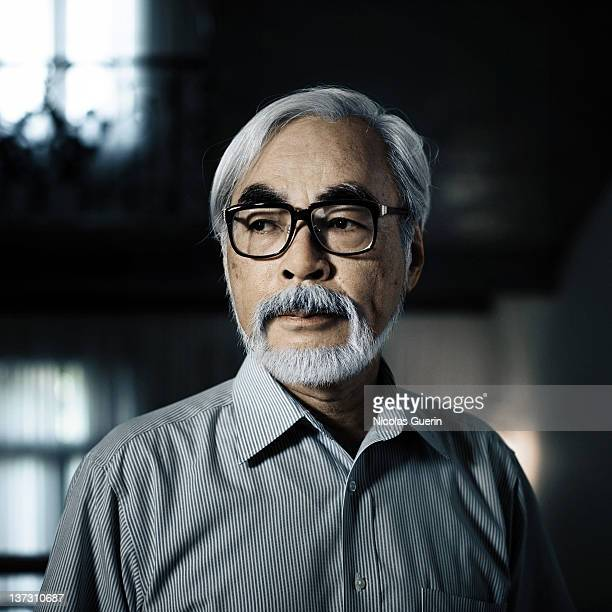 Director Hayao Miyazaki is photographed for Self Assignment on September 22 2008 in Venice Italy