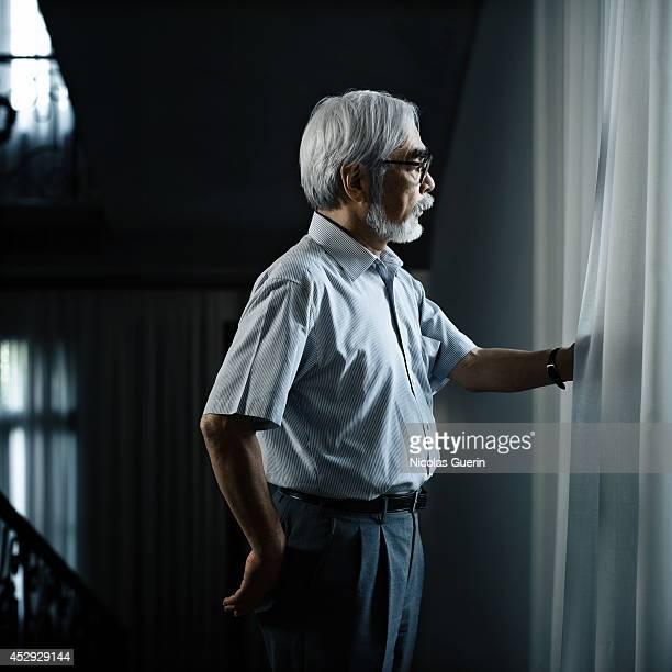 Director Hayao Miyazaki is photographed for Self Assignment on August 30 2008 in Paris France