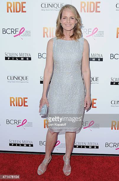 Director Helen Hunt arrives at the Los Angeles Premiere Ride at ArcLight Hollywood on April 28 2015 in Hollywood California