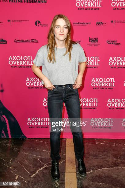 Director Helene Hegemann attends the 'Axolotl Overkill' Berlin Premiere at Volksbuehne RosaLuxemburgPlatz on June 21 2017 in Berlin Germany