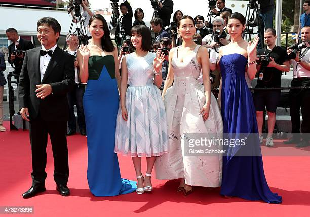 Director Hirokazu Koreeda and actresses Masami Nagasawa Suzu Hirose Haruka Ayase and Kaho attend the Premiere of 'Umimachi Diary' during the 68th...