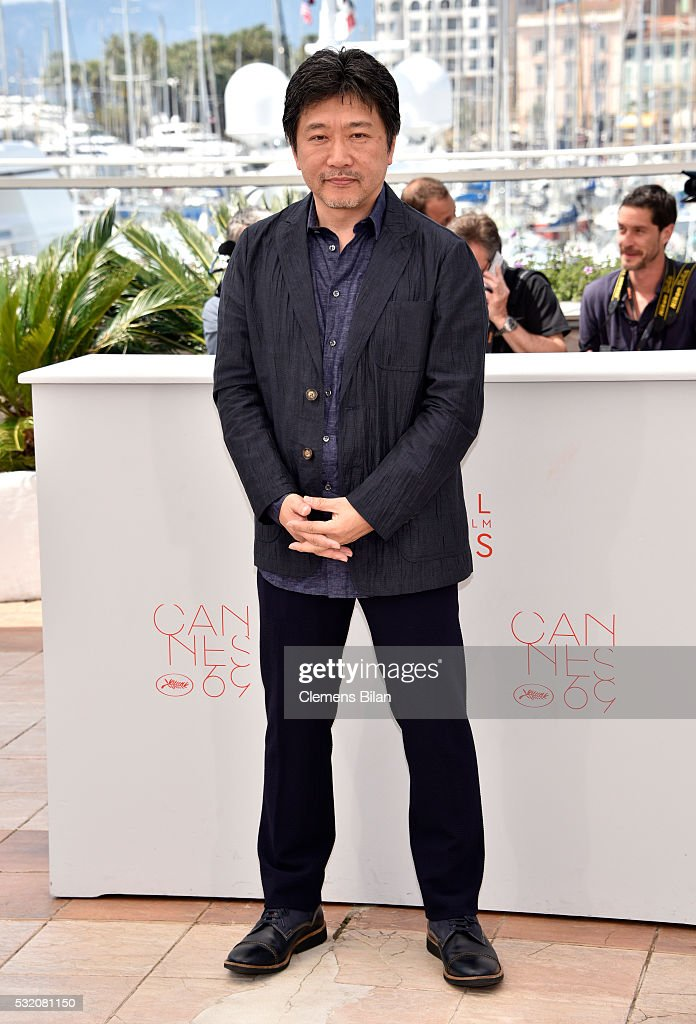 Director Hirokazu Koreeda attends the 'After The Storm' photocall during the 69th Annual Cannes Film Festival at the Palais des Festivals on May 18, 2016 in Cannes, France.