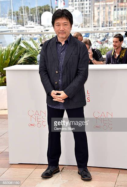 Director Hirokazu Koreeda attends the 'After The Storm' photocall during the 69th Annual Cannes Film Festival at the Palais des Festivals on May 18...