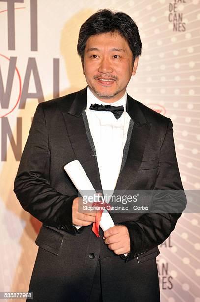 Director Hirokazu Koreeda attends the 'Palme D'Or Winners dinner' during the 66th Cannes International Film Festival