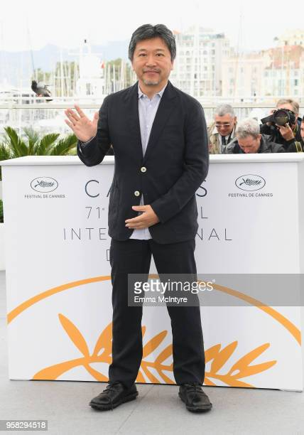 Director Hirokazu Koreeda attends the photocall for 'Shoplifters ' during the 71st annual Cannes Film Festival at Palais des Festivals on May 14 2018...