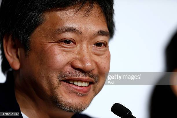 Director Hirokazu Koreeda attends the press conference for 'Umimachi Diary' during the 68th annual Cannes Film Festival on May 14 2015 in Cannes...