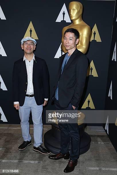 Director Hiromasa Yonebayashi and Producer Yoshiaki Nishimura attend 88th Annual Academy Awards Oscar Week Celebrates Animated Features at the...