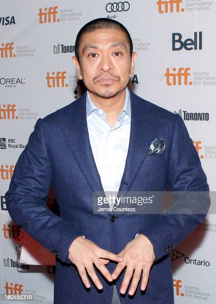 "Director Hitoshi Matsumoto attends the premiere of ""R100"" at Ryerson Theatre on September 12, 2013 in Toronto, Canada."