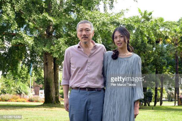 Director Hong Sangsoo and Actress Kim Minhee attend the 'Gangbyub Hotel' during the 71st Locarno Film Festival on August 9 2018 in Locarno Switzerland