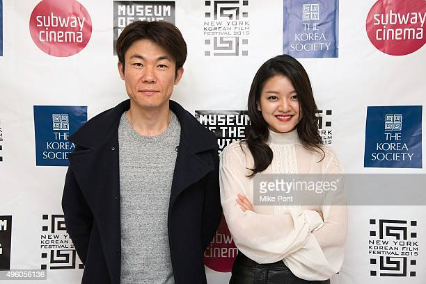 Director Hong WonChan and actress Ko AhSung attend the opening night of the 2015 New York Korean Film Festival at Museum of the Moving Image on...
