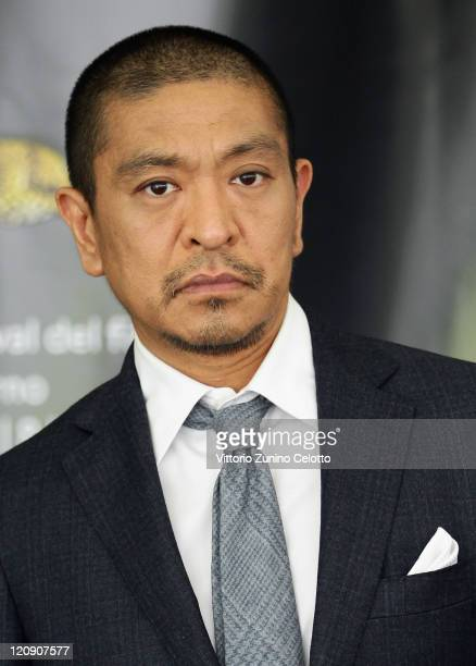 Director Hotoshi Matsumoto attends 'Saya Zamurai' photocall during the 64th Festival del Film di Locarno on August 12, 2011 in Locarno, Switzerland.