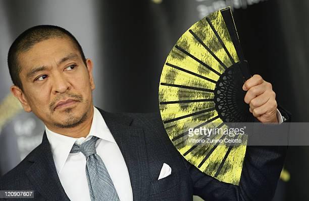 Director Hotoshi Matsumoto attends 'Saya Zamurai' photocall during the 64th Festival del Film di Locarno on August 12 2011 in Locarno Switzerland