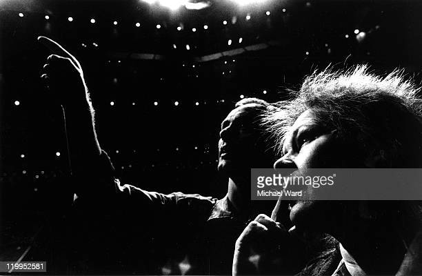 Director Howard Davies and actress Judi Dench during rehearsals for the Royal Shakespeare Company production of Bertholt Brecht's 'Mother Courage'...