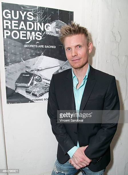 Director Hunter Lee Hughes attends the Guys Reading Poems fundraiser at V Wine Bar on April 11 2014 in West Hollywood California