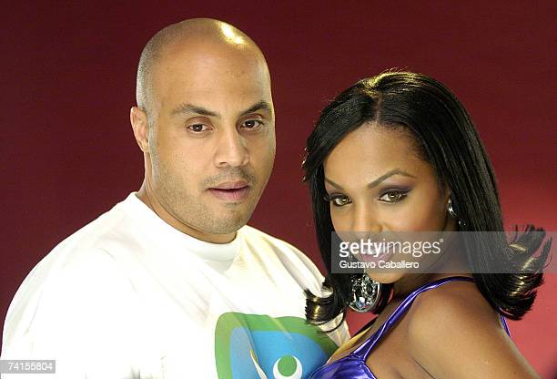 Director Hype Williams and Angel Lola Luv on the set of Twista and Pharrell Williams video shoot on May 14 2007 in Miami Beach Florida