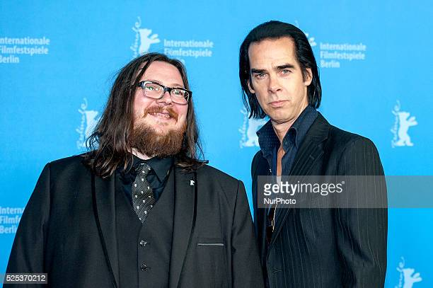 Director Iain Forsyth, actor and singer Nick Cave attend the '20.000 Days on Earth' photocall during 64th Berlinale International Film Festival at...