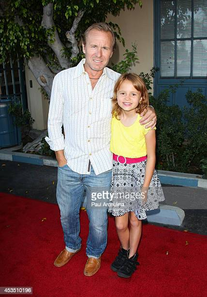 Director Ian McCrudden and Actress Maggie Elizabeth Jones attend the premiere Child Of Grace at Raleigh Studios on August 11 2014 in Los Angeles...