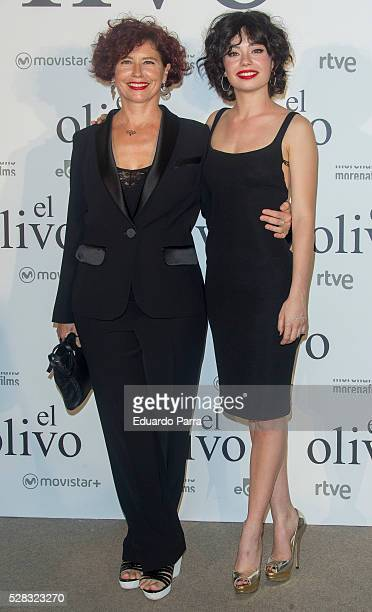 Director Iciar Bollain and actress Anna Castillo attend 'El olivo' premiere at Capitol cinema on May 04 2016 in Madrid Spain