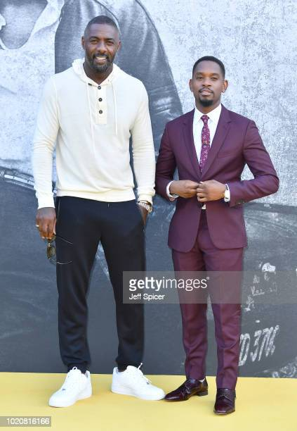 Director Idris Elba and actor Aml Ameen attend the UK premiere of 'Yardie' at the BFI Southbank on August 21 2018 in London England