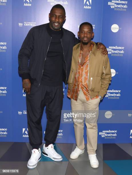 Director Idris Elba and actor Aml Ameen attend the 'Yardie' red carpet arrivals during the Sundance Film Festival at Picturehouse Central on June 1...